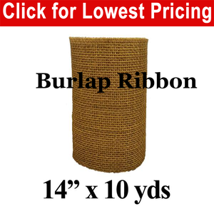 "14"" Burlap Ribbon (10 Yard Roll)"