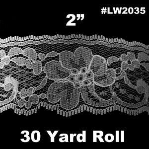 "Lace Trim (2"") White LW2035"