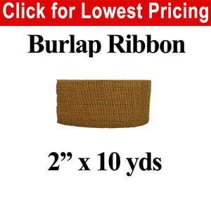 "2"" Burlap Ribbon (10 Yard Roll)"