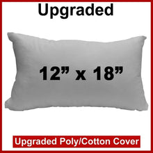 "Load image into Gallery viewer, Pillow Form 12"" x 18"" (Polyester Fill) - Premium Fabric Cover"
