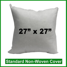 "Load image into Gallery viewer, Pillow Form 27"" x 27"" (Polyester Fill) (Individually Bagged & Compressed)"