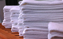 "Load image into Gallery viewer, Dz. White Bath Towels 22"" x 44"" - 6 lbs/dz - Nusso.com"