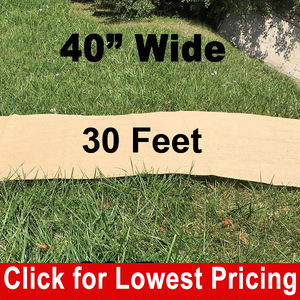 "40"" Wide Burlap Aisle Runner - 30 Feet"
