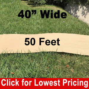 "40"" Wide Burlap Aisle Runner - 50 Feet"