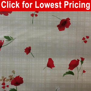 "54"" Oilcloth Printed Vinyl Tabling - Majestic Full Roll  (now longer roll 20 Meters=21..80 yds)"
