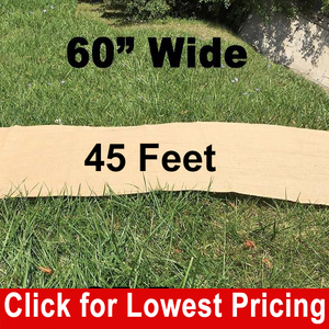 "60"" Wide Burlap Aisle Runner - 45 Feet"