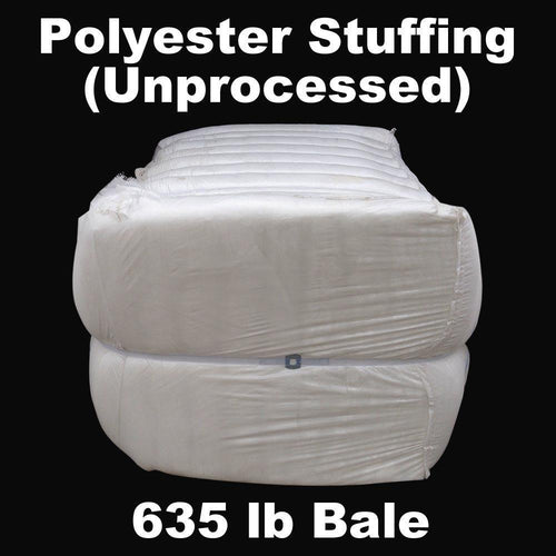 polyester stuffing (unprocessed) 635lb industrial bale