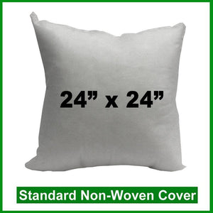 "Pillow Form 24"" x 24"" (Polyester Fill) (Individually Bagged & Compressed)"