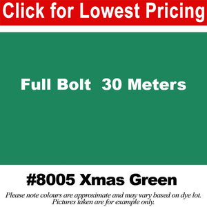 "#8005 Xmas Green Broadcloth Full Bolt (45"" x 30 Meters)"