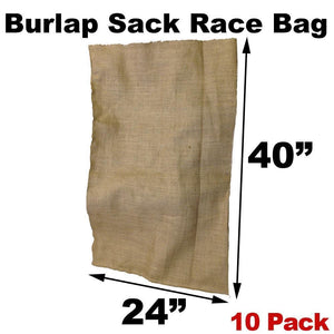 "Burlap bags for sack races - 24"" x 40"" Adult Size"