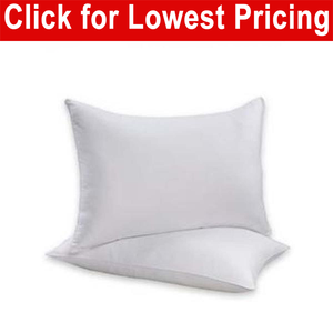 "Bed Pillow 20"" x 26"" Standard Size Fabric Cover - Twin Pack"