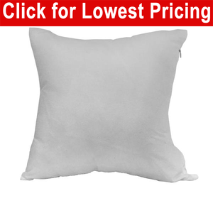 "Blank Sublimation Polyester Pillow Cover - 16"" x 16"" with 14"" wide zipper"