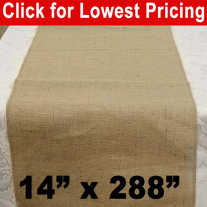 "Burlap Table Runner 14"" x 288"""