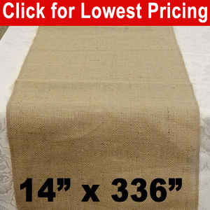 "Burlap Table Runner 14"" x 336"""