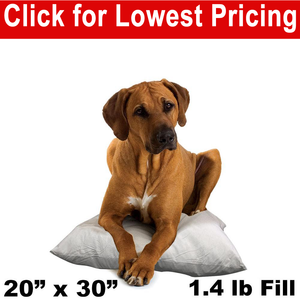 "Dog Bed  & Pet Bed Insert - 20"" x 30"" (1.4lbs)"