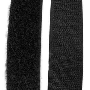 "2"" Wide Black Hook and Loop Strip (5 Yards)"