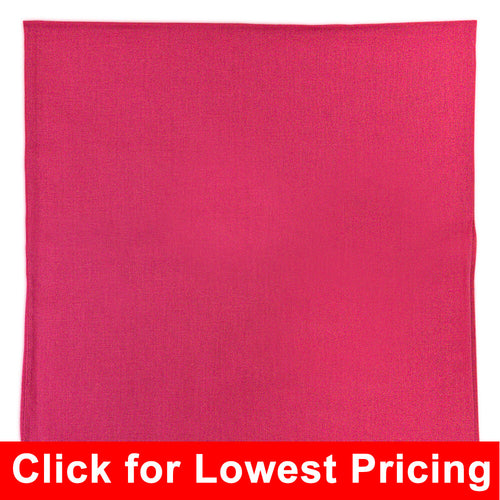 Hot Pink Bandana - 100% Cotton - Solid Color - 12 Pack