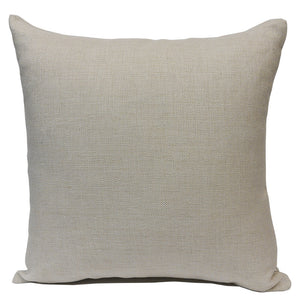 "Blank Sublimation Linen-Look Pillow Cover - 16"" x 16"" with 14"" wide zipper"