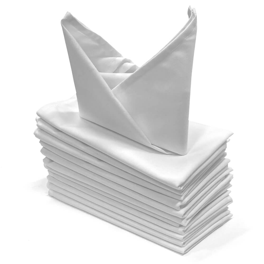 White Cloth Napkins (Dozen)