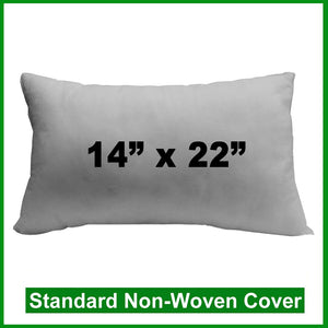"Pillow Form 14"" x 22"" (Polyester Fill) rectangular"