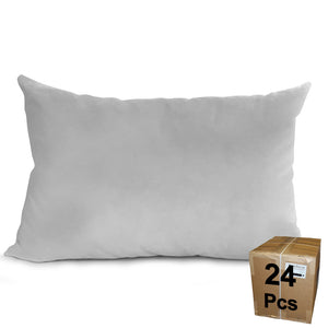 "Pillow Form 12"" x 20"" (Synthetic Down Alternative) Case Lot - 24 Pieces"