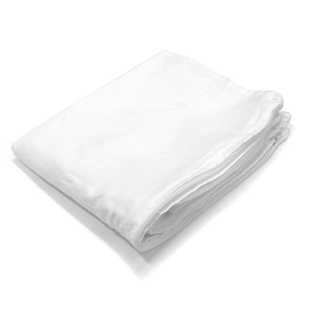 Pair of White Pillow Protectors - Queen Size - HomeTex.ca