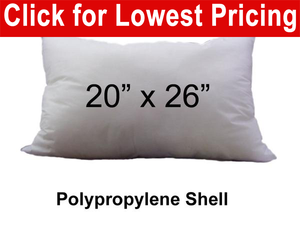 "Pillow Fight Pillow Standard Size 20"" x 26"" Non Woven Shell 0.90 Lbs (25 Pieces)"