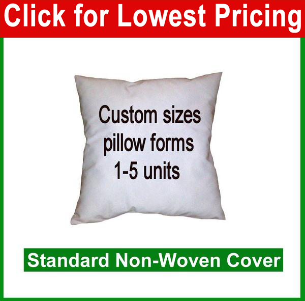 Pillow Form - Custom Size (Polyester Fill)