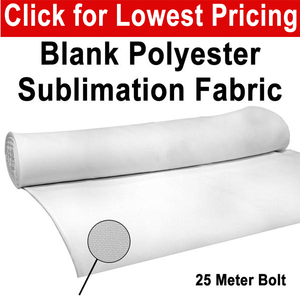 "Polyester Sublimation Fabric (Blank White) 60"" Wide x 25 Meters Roll"