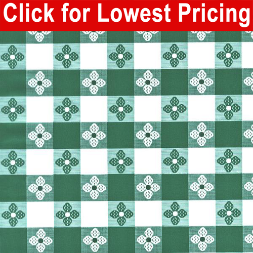 Printed Table Vinyl Full Roll (40 yards) - Tavern Check Green
