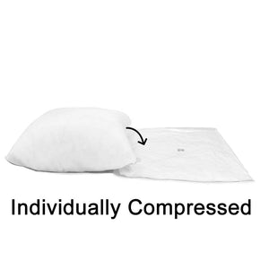 "Adjustable Pillow Form 20"" x 20"" (Polyester Fill) - Premium Fabric Cover"