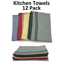"Load image into Gallery viewer, Kitchen Tea Towels 22"" x 32"" - Dozen Pack"
