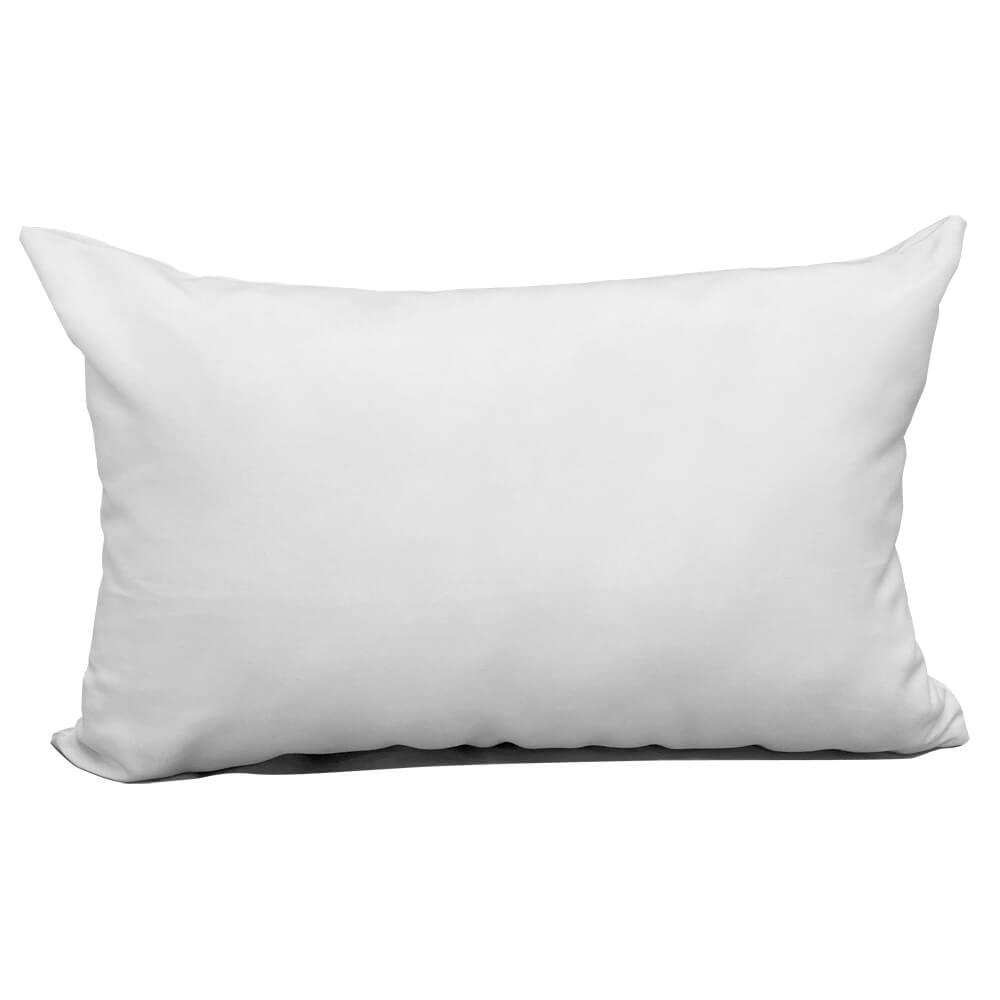 "Blank Sublimation Polyester Pillow Cover - 12"" x 18"" with zipper"