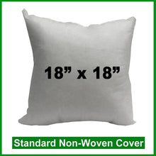 "Load image into Gallery viewer, Pillow Form 18"" x 18"" (Polyester Fill)"