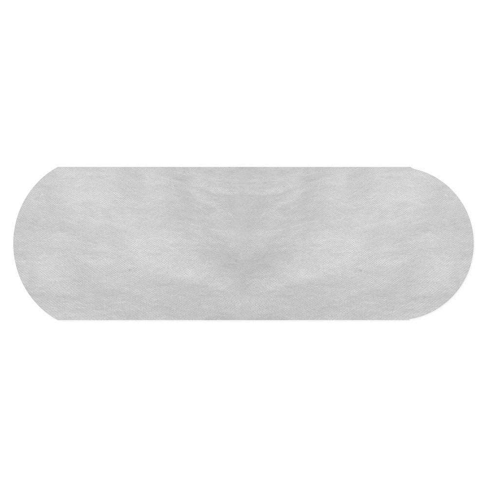 White Polypropylene Backdrop Fabric Rounded Edge - Dual Layer (100 Pack)