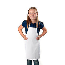Load image into Gallery viewer, Apron - White - Polyester (Child Size) (Dozen)
