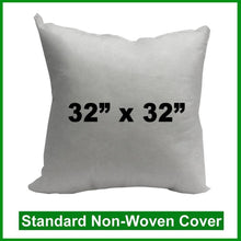 "Load image into Gallery viewer, Pillow Form , Floor pillow  32"" x 32"" (Polyester Fill)"
