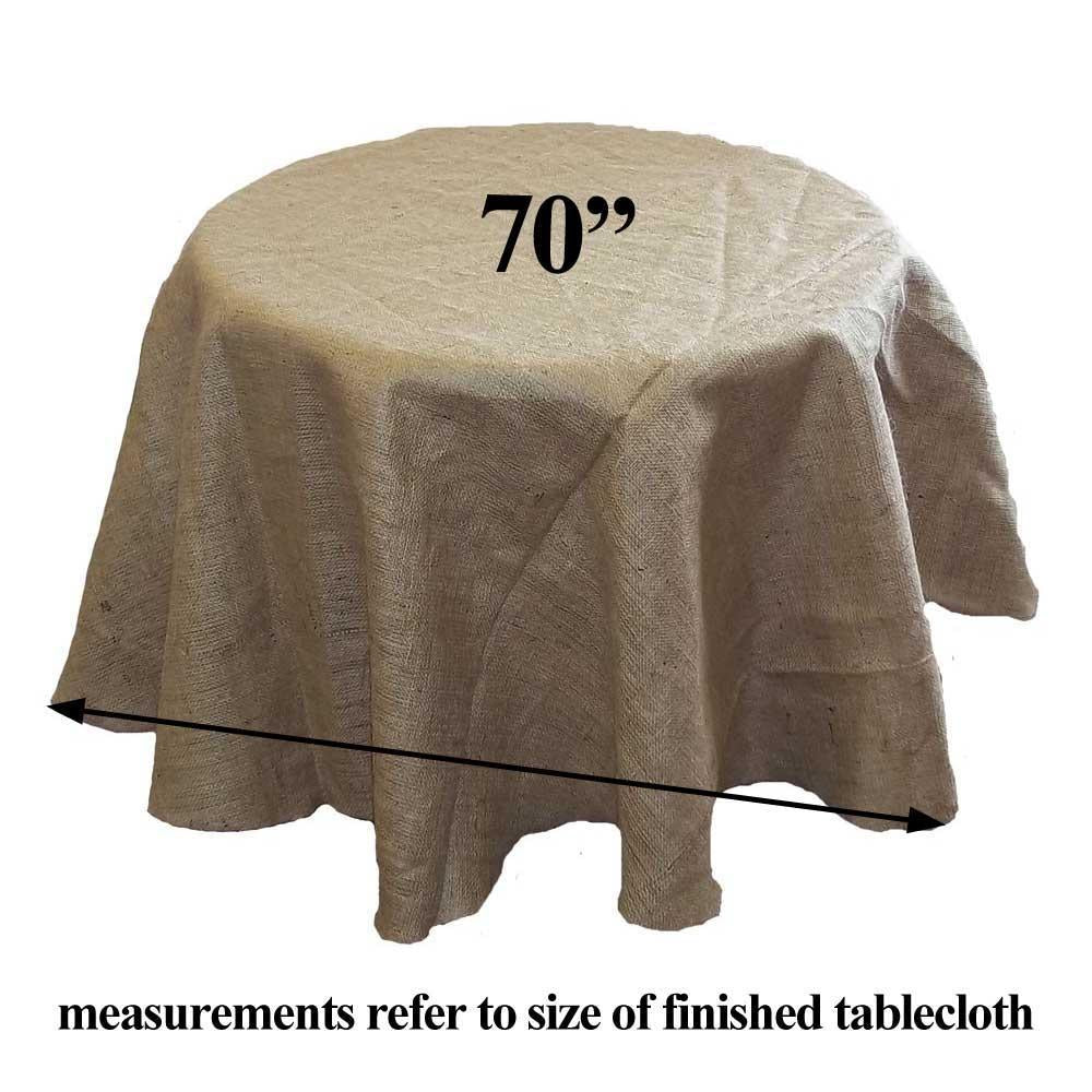 Burlap Tablecloth 70