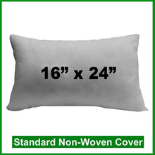 "Load image into Gallery viewer, Pillow Form 16"" x 24"" (Polyester Fill) oblong"