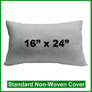 "Pillow Form 16"" x 24"" (Polyester Fill) oblong"