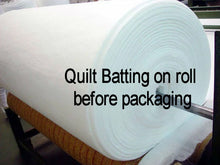 "Load image into Gallery viewer, Queen Quilt Batting (90""x108"") 20 Piece Roll"