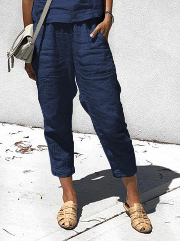 Spring/Summer Boho Linen Casual Pants