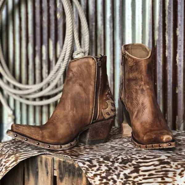 Brown Winter Boots-Shoes-fastchics-Brown-35-fastchics