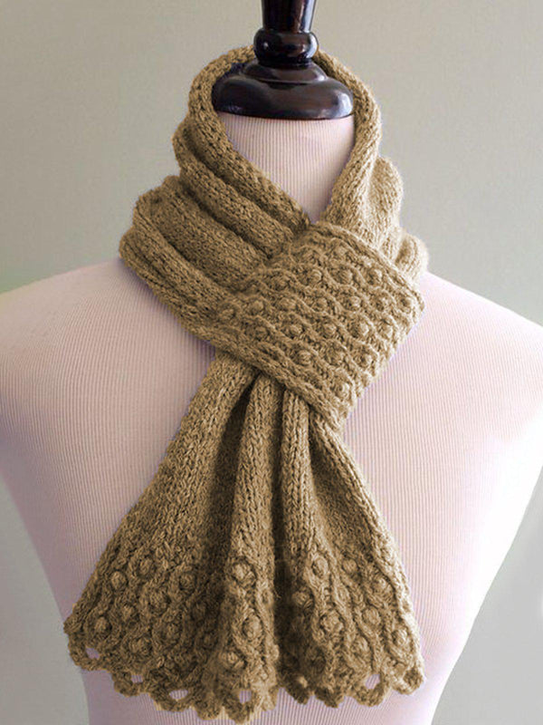 Women Casual Knitted Holiday Scarf-Accessories-fastchics-Yellow-One-size-fastchics
