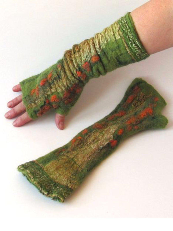 Women Polyester Fall Gloves-Accessories-fastchics-Green-One-size-fastchics