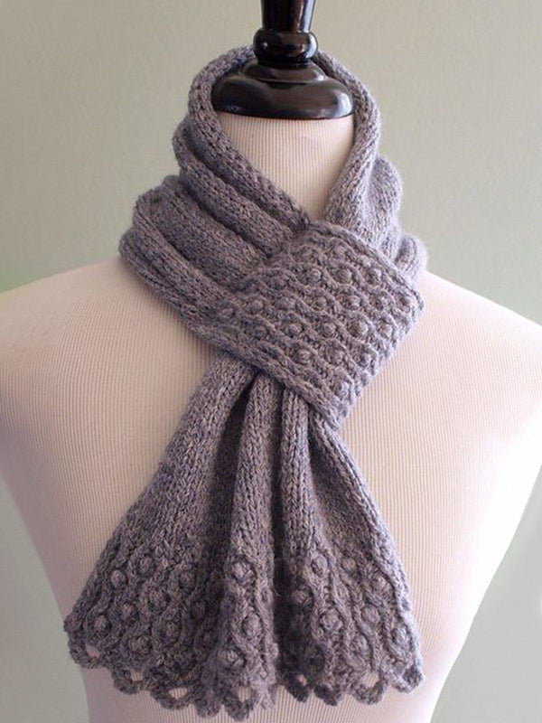 Women Casual Knitted Holiday Scarf-Accessories-fastchics-Khaki-One-size-fastchics
