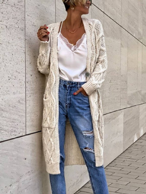 Plus Size Casual Long Sleeve Sweater Outerwear