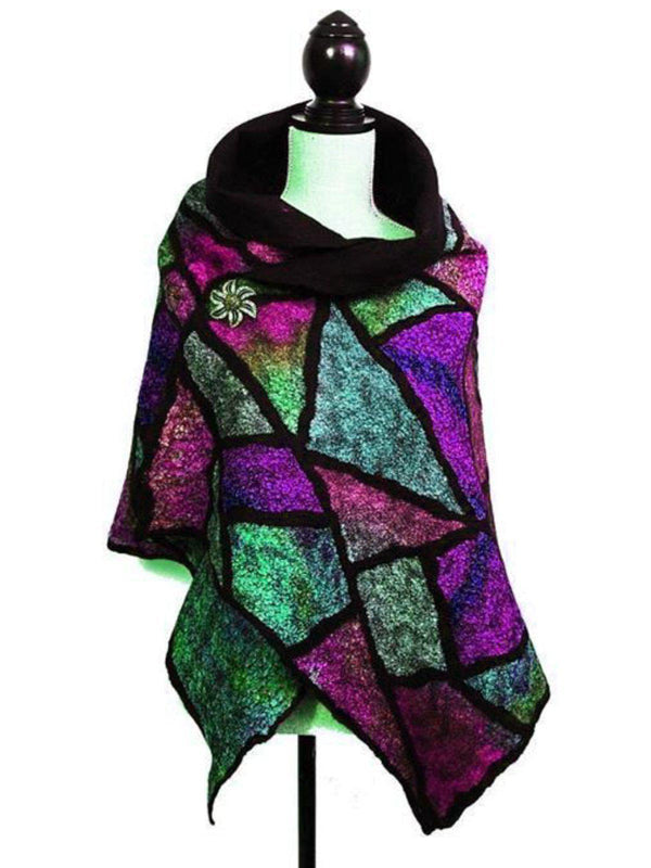 Women Boho Holiday Fall/Winter Polyester Scarf-Accessories-fastchics-Magenta-One-size-fastchics