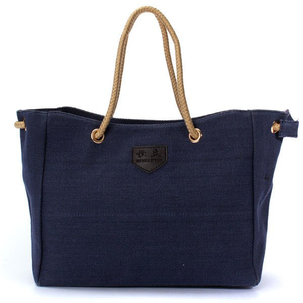 Women Casual High Capacity Canvas Shopping Handbag Tote Messenger Bag-Accessories-fastchics-Blue-Large-fastchics