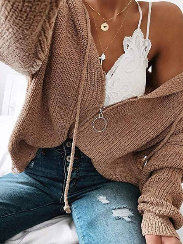 Long Sleeve Hoodie Casual Zipper Outerwear